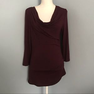 NWT Studio M burgundy top size Large